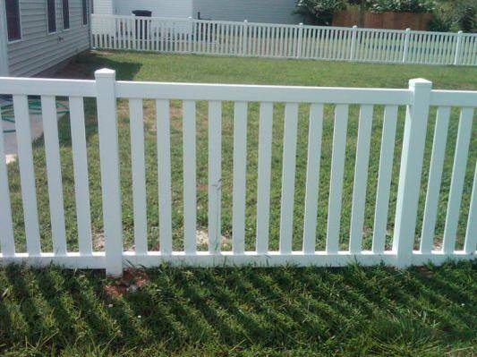 4ft Vinyl Fence with 3in spaced pickets