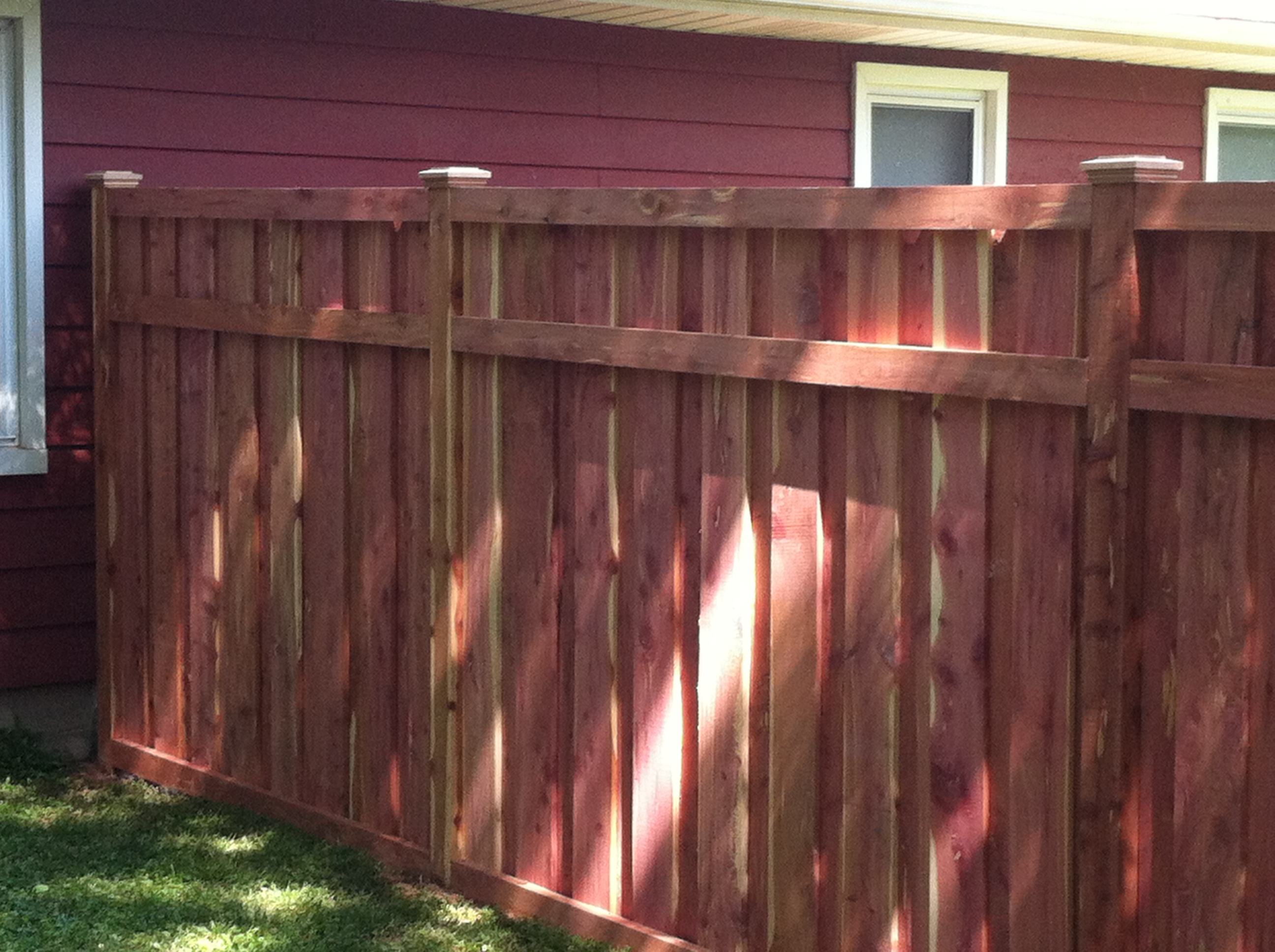 6ft 3 Rail Eastern Red Cedar Wood Privacy Fence