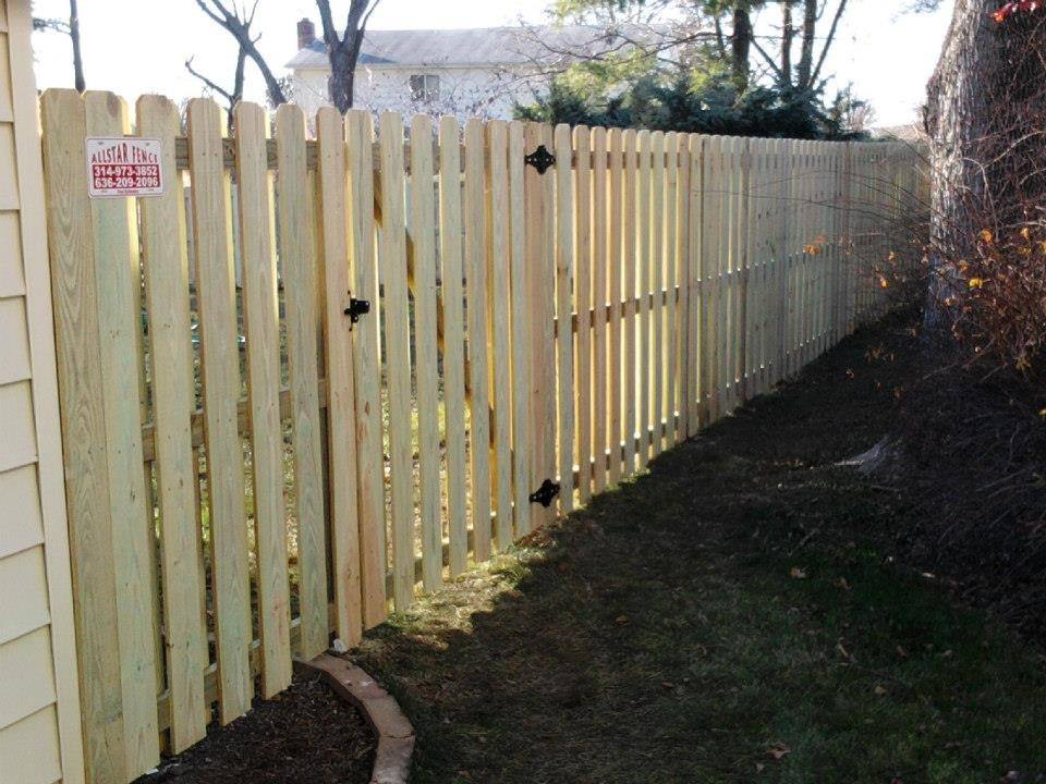 6ft treated wood shadowbox privacy fence