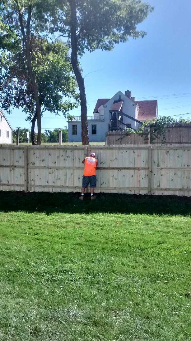 6ft Treated Wood Privacy Fence