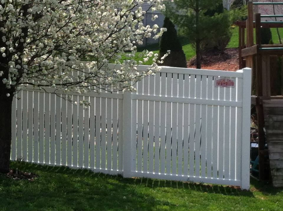 6ft Tall White Vinyl Semi-Privacy Fence