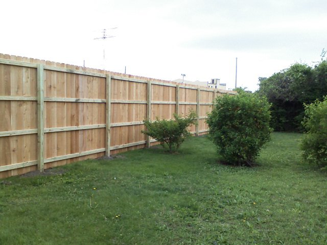 4ft Treated Scallop Wood Fence