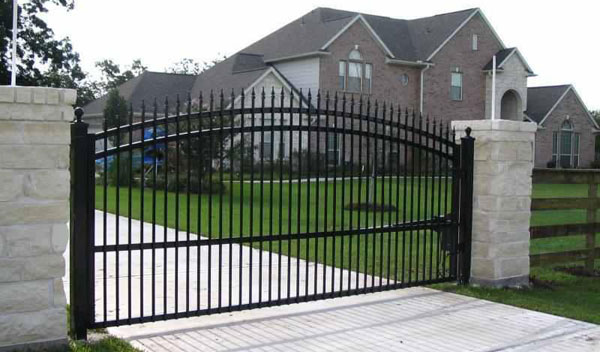 6ft Tall Steel Decorative Estate Gate With Electric Operator