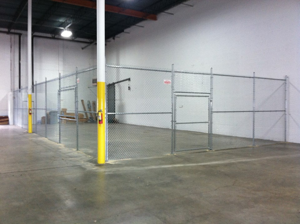 8ft Tall Warehouse Security Cage
