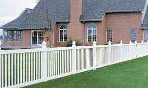 4ft Tall White Vinyl Fence With 3 inch Space Pickets